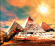 Camel Digital Art Originals - Pyramids by Daniel Janda