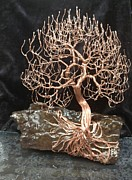 Wire Tree Sculpture Prints - Pyroclastic Tree Print by Brian Boyer