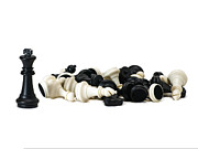 Chess Set Prints - Pyrrhic Victory Print by Alexander Senin