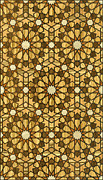 Illustrator Digital Art Posters - Qarawiyyin Mosque Geometric Pattern 1 Wood Poster by Hakon Soreide