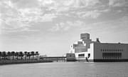 Large Format Prints - Qatar museum and clouds Print by Paul Cowan