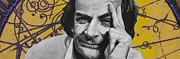 Qed- Richard Phillips Feynman Print by Simon Kregar
