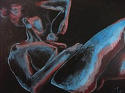 Nudes Drawings Originals - Qiet Night by Carmen Tyrrell