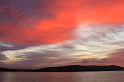 Belchertown Posters - Quabbin Reservoir Sunrise over Quabbin Hill Poster by John Burk
