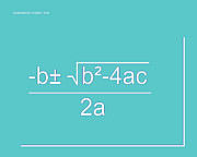 Calculus Digital Art Posters - Quadratic Equation aqua-white Poster by Paulette Wright