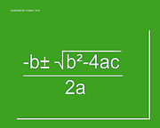 Calculus Digital Art Posters - Quadratic Equation green-white Poster by Paulette Wright