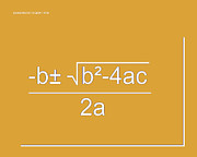 Calculus Digital Art Posters - Quadratic Equation orange-white Poster by Paulette Wright