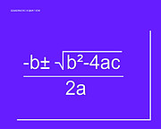 Calculus Digital Art Posters - Quadratic Equation purple-white Poster by Paulette Wright