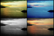 Multiple Images Posters - Quadriptych seascape in Azores Poster by Gaspar Avila