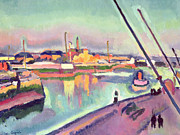 Reflection Paintings - Quai Notre Dame Le Havre by Georges Dupuis