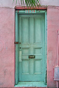 French Door Prints - Quaint Little Door in the Quarter Print by Brenda Bryant