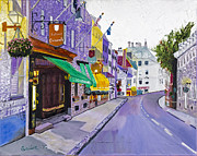 Quebec City Framed Prints - Quaint Quebec City by Stan Bialick Framed Print by Sheldon Kralstein