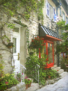 Street Scenes Prints - Quaint Street Scene Quebec City Print by Ann Powell