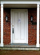 Quaker Town Posters - Quaker Meeting House Doorway Poster by Sally Simon