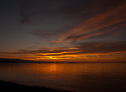 Vancouver Sunset Posters - Qualicum Sunset Poster by Randy Hall