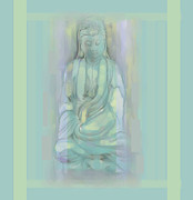 Contemplative Mixed Media - Quan Yin  by Jean Marie Bowcott