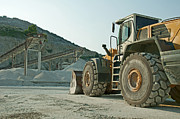 Quarry And Bulldozer Print by Deyan Georgiev