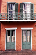 French Quarter Doors Framed Prints - Quarter House Framed Print by John Rizzuto