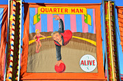 Freak Show Framed Prints - Quarter Man Framed Print by David Lee Thompson