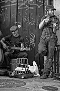 Trio Photos - Quarter Time Blues monochrome by Steve Harrington