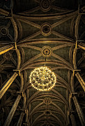 Hall Photo Posters - Quebec City Canada Ornate Grand Hall or Church Ceiling Poster by Edward Fielding