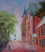Buildings Pastels - Quebec City by Marion Derrett