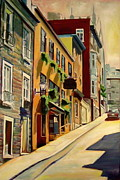 Quebec Paintings - Quebec City by Sheila Diemert