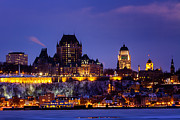 Levis Framed Prints - Quebec City Skyline Framed Print by Dawna  Moore Photography