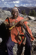Slide Photographs Prints - Quechua Man With Guitar - Peru Print by Craig Lovell