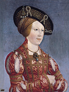 Famous Artists - Queen Anne of Hungary and Bohemia by Hans Maler