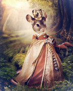 Queen Print by Cindy Grundsten
