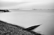 Foggy Day Originals - Queen Elizabeth bridge on foggy day by Vinicios De Moura