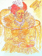 Queen Mary Painting Originals - Queen Elizabeth I 1500  by Richard W Linford