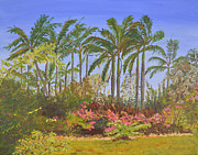 Queen Elizabeth Paintings - Queen Elizabeth II Botanic Park Cayman Islands by Dorothy Krajewski