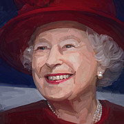 Briex Posters - Queen Elizabeth II Poster by Nop Briex