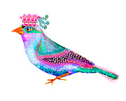 Bird Prints Posters - Queen Loca Poster by Moon Stumpp