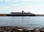 George Cousins Prints - Queen Mary 2 Halifax 2004 Print by George Cousins
