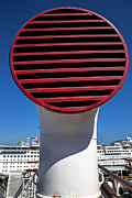 Queen Photo Prints - Queen Mary Air Vent Print by Garry Gay