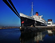 Historic Ship Posters - Queen Mary Poster by Benjamin Yeager