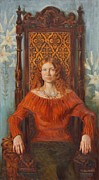 Portrait Paintings - Queen Natasha by Victoria Kharchenko