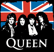 Bands Prints - Queen No.01 Print by Caio Caldas