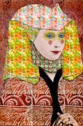 Nosyreva Metal Prints - Queen of diamonds Metal Print by Elena Nosyreva