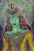 Visionary Artist Painting Prints - Queen of My Heart Print by Annette Wagner
