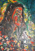 Live Painting Originals - Queen of Sheba by Esther Newman-Cohen