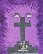 Vodou Painting Posters - Queen of The Ghede Poster by Dayila Divine