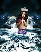 Famous Book Digital Art - Queen of the Mermaids by ChelsyLotze International Studio