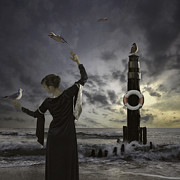 Frock Photo Posters - Queen Of The Seagulls Poster by Joana Kruse