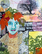 The Trees Mixed Media Originals - Queen of the Trees by Jane  Halliwell Green