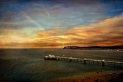 Sunset Seascape Digital Art Prints - Queen of the Welsh Resorts Print by Adrian Evans