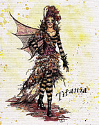 Theater Drawings - Queen Titania by Wes Jenkins
